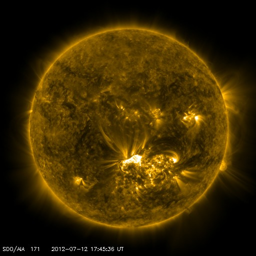 SDO image of the X 1.4 flare. NASA