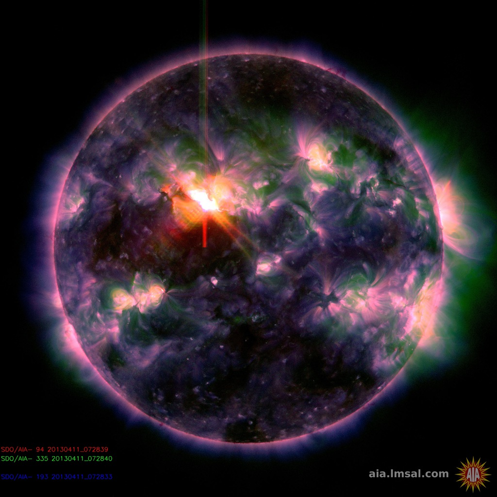 SComposite SDO image of the M6.5 flare. Image NASA