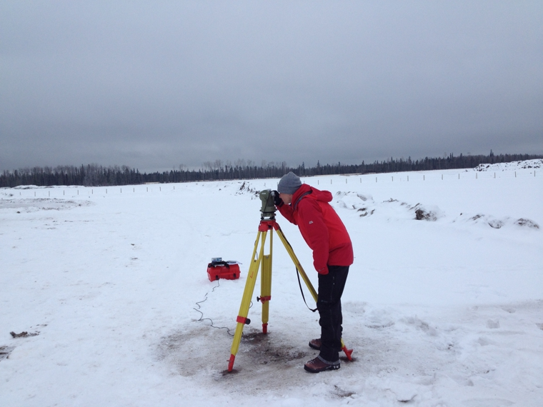 Photo of absolute observations at the observatory site.