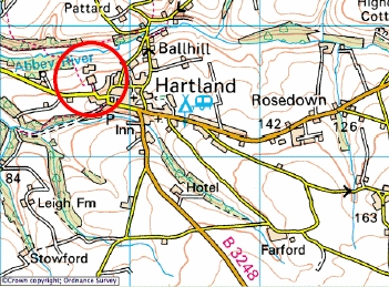 Map of Hartland Obsevatory Location