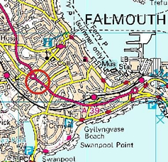 Map of Falmouth Observatory Location