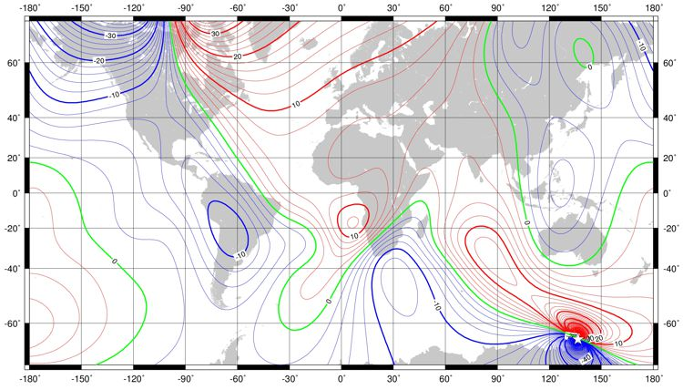 World Magnetic Model WMM BGS Geomagnetism - 2017 magnetic declination map of the us